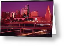 Kansas City Skyline 1991 Greeting Card