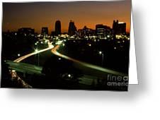Kansas City Skyline, 1981 Greeting Card