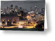 Kansas City Skyline Greeting Card by Ryan Heffron