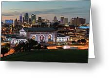 Kansas City Summer Sunset Greeting Card