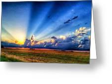 Kansas Country Sunset Greeting Card