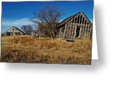 Kansas Farmhouse And Barn Greeting Card
