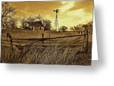 Kansas Pioneer Homestead On The Plains Greeting Card
