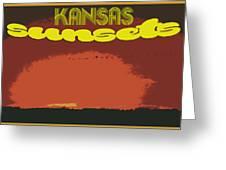 Kansas Travel Image Nine Greeting Card