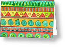 Kapa Patterns 10 Greeting Card