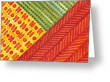 Kapa Patterns Triangle 1 Greeting Card