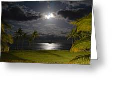 Kapa'a Moonrise Greeting Card