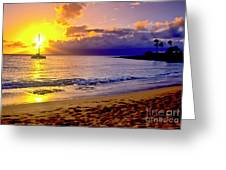 Kapalua Bay Sunset Greeting Card