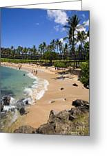 Kapalua Beach Resort Greeting Card