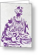 Kareem Abdul Jabbar Los Angeles Lakers Pixel Art Greeting Card
