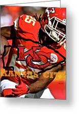 Kareem Hunt, Kansas City Chiefs Greeting Card