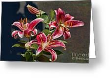 Karen's Lilies Greeting Card