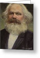 Karl Marx  Greeting Card