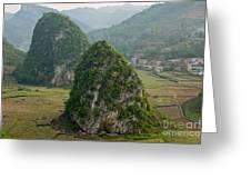 Karst Landscape, Guangxi China Greeting Card