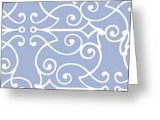 Kasbah Blue Arabesque Greeting Card