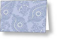 Kasbah Blue Paisley II Greeting Card