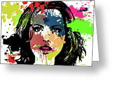 Kate Beckinsale Pop Art Greeting Card