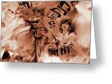 Kathak Dance On Tabla  Greeting Card