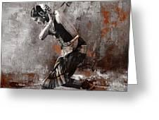 Kathak Dancer A1 Greeting Card