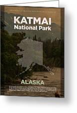 Katmai National Park In Alaska Travel Poster Series Of National Parks Number 34 Greeting Card