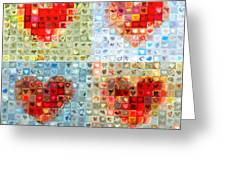 Katrina's Heart Wall - Custom Design Created For Extreme Makeover Home Edition On Abc Greeting Card by Boy Sees Hearts