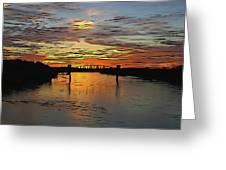 Katy Bridge Watercolor Effect Greeting Card