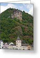 Katz Castle And Village Greeting Card
