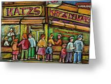 Katzs Delicatessan New York Greeting Card