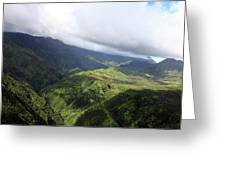 Kauai By Helicopter Greeting Card