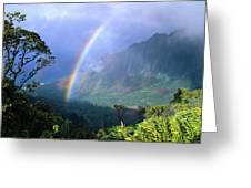 Kauai Rainbow Greeting Card