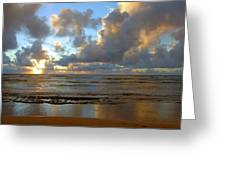 Kauai Sunrise Reflections Greeting Card