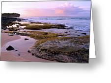 Kauai Tide Pools At Dawn Greeting Card
