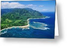 Kauai, Tunnels Beach Greeting Card
