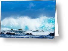 Kauai Waves Greeting Card