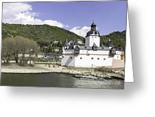 Kaub And Burg Pfalzgrafenstein Greeting Card