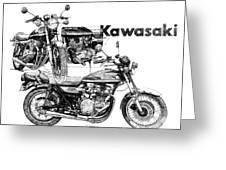 Kawasaki 900 Greeting Card