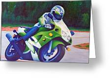 Kawasaki Zx7 - In The Groove  Greeting Card