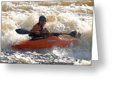 Kayak 9 Just Relax Greeting Card
