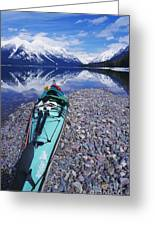 Kayak Ashore Greeting Card