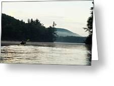 Kayak In The Fog Greeting Card
