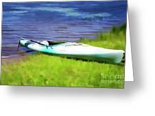 Kayak In Upstate Ny Greeting Card