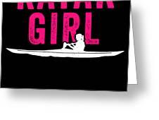 Kayak Kayak Girl Pink Gift Light Greeting Card