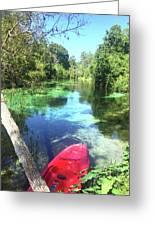 Kayak On Weeki Wachee Springs Greeting Card