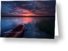 Kayak Sunrise Greeting Card