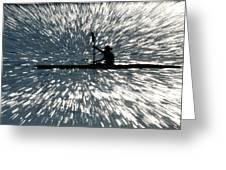 Kayak Zoom Greeting Card