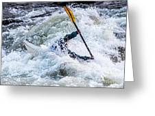 Kayaker In Action At Pipeline Rapids In James River 5956c Greeting Card