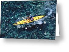 Kayaker Over Coral Reef Greeting Card