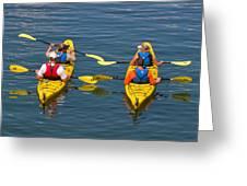 Kayakers In Bar Harbor Maine Greeting Card