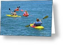 Kayaking Friends Greeting Card