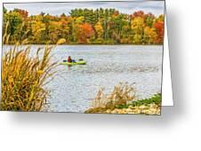 Kayaking In Fall Greeting Card